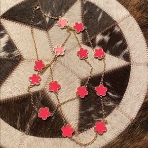 Jewelry - Fornash Pink/Gold Clover Necklace
